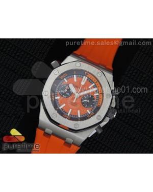 Royal Oak Offshore Diver Chronograph Orange Dial on Orange Rubber Strap A3126