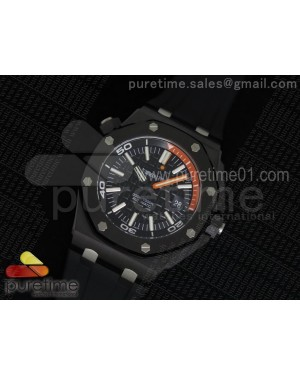 Royal Oak Offshore Diver Real Ceramic V6F Best Edition on Black Rubber Strap A3120 V2 (Free Extra Rubber Strap)