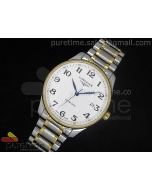 Master Automatic SS/YG White Dial 2 Numeral Markers on Bracelet A2824