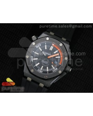 Royal Oak Offshore Diver Real Ceramic Noob Best Edition on Rubber Strap A3120