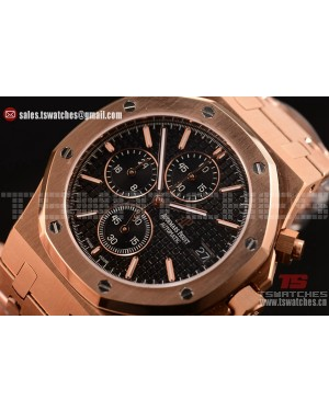 Audemars Piguet Royal Oak Chronograph Miyota OS10 Quartz Black Dial RG/RG