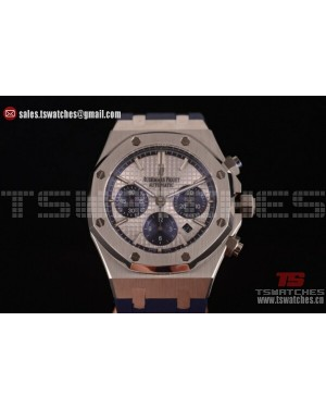 Audemars Piguet Royal Oak QE II CUP 2015 Limited Edition Chrono White Dial SS/RU - 7750 Auto (EF)