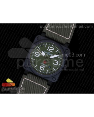 BR 03-92 PVD Green Dial on Green Nylon Strap MIYOTA 9015