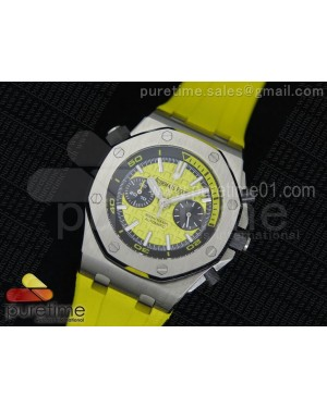 Royal Oak Offshore Diver Chronograph Yellow Dial on Yellow Rubber Strap A3126