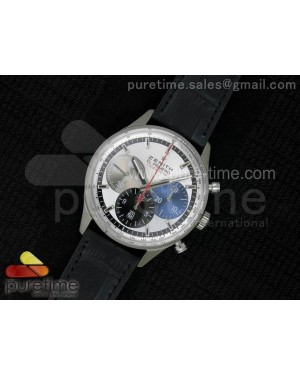 El Primero Chrono SS AXF 4 Color Dial on Black Leather Strap A7750