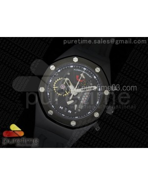 Royal Oak Concept PVD Black/Black Dial on Black Rubber Strap Jap Quartz