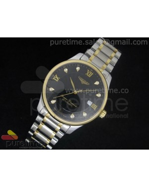 Master Automatic SS/YG Black Dial Roman & Diamond Markers on Bracelet A2824