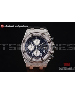 Audemars Piguet Royal Oak Offshore Chrono Seiko VK67 Quartz SS/RU Blue Dial