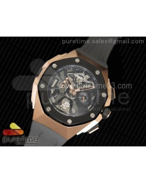 Royal Oak Concept Chrono RG Black Dial Schumacher Caseback on Gray Rubber Strap Jap Quartz