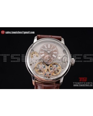 Audemars Piguet Jules Audemars Skeleton Tourbillon Brown Dial SS/LT - ST25 Auto