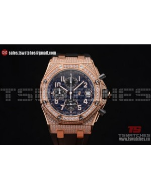 Audemars Piguet Royal Oak Offshore Chrono Seiko VK67 Quartz RG/RU Blue Dial