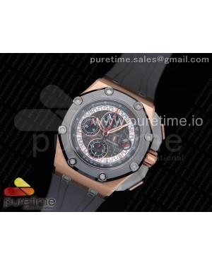 Royal Oak Offshore 44mm RG Cermet Bezel Michael Schumacher 1:1 JF Best Edition A3126 (Free XS Strap) V2 w/ Cyclops