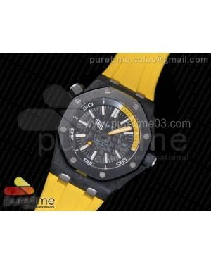 Royal Oak Offshore Diver Lite PVD Black/Yellow Dial on Yellow Rubber Strap A3120