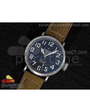 Pilot Type 20 SS Black Dial on Brown Asso Strap A23J