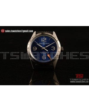 Bell&Ross Vintage BR 123 GMT 9015 Auto Blue Dial SS/RU