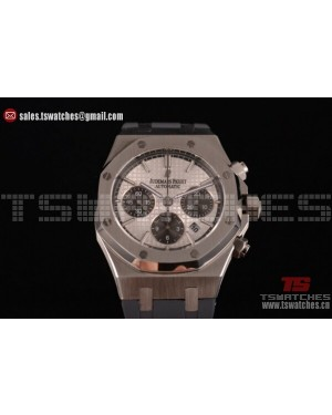 Audemars Piguet Royal Oak QE II CUP 2015 Limited Edition Chrono SS/RU White Dial - 7750 Auto (EF)