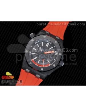 Royal Oak Offshore Diver Lite PVD Black/Orange Dial on Orange Rubber Strap A3120