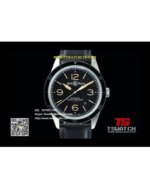 BR16962 - BR123 Vintage Sport Heritage Black Dial SS LT Miyota 9015
