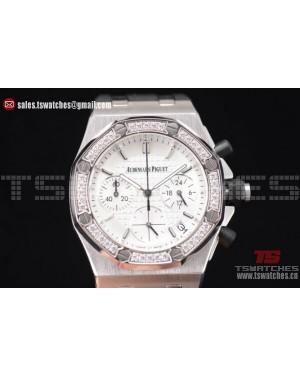 Audemars Piguet Royal Oak Offshore White Dial Diamonds Bezel SS/RU - OS20 Quartz(EF)