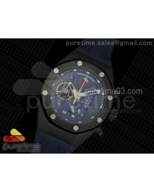 Royal Oak Concept PVD Blue/Blue Dial on Blue Rubber Strap Jap Quartz