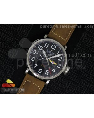 Pilot Type 20 GMT SS Black Dial on Brown Asso Strap A23J
