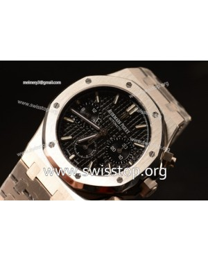 Royal Oak Chrono 316L Solid Steel Black Clone AP3126 Automatic 26331OR.OO.1220OR.01